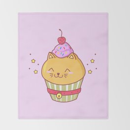 Cat Cake Throw Blanket