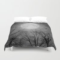 tolkien Duvet Covers featuring May It Be A Light (Dark Forest Moon) by soaring anchor designs