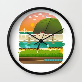 Budapest burger Wall Clock
