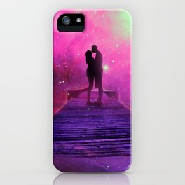 Kiss into the universe iPhone Case