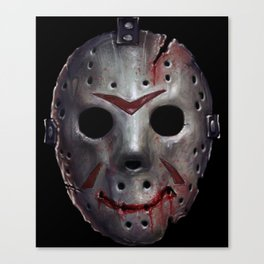 Happy Friday Mask Canvas Print