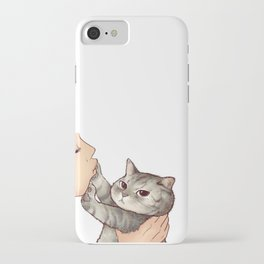cat : hmmmmm! iPhone Case