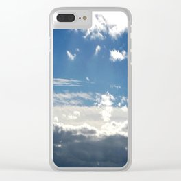 Windy Day Sky Clear iPhone Case