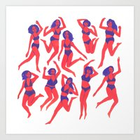 Underwear Dancing Art Print