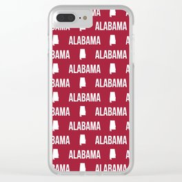 Alabama bama crimson tide pattern football varsity alumni Clear iPhone Case
