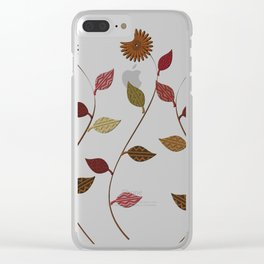 Cute Daises Clear iPhone Case