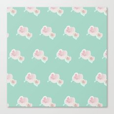 Dope Floral Teal Canvas Print
