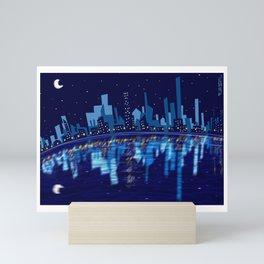 The Awakened city Mini Art Print