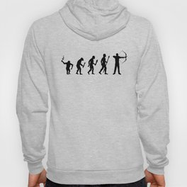 The Evolution Of Man And Archery Hoody