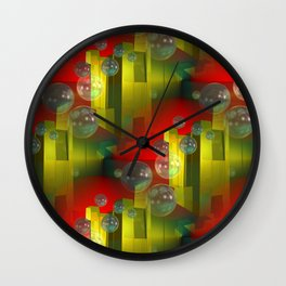 3D - abstraction -c- Wall Clock
