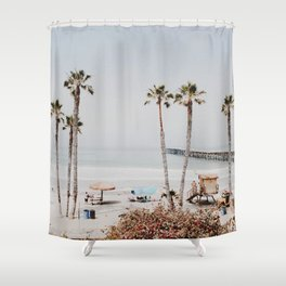 palm trees x / california Shower Curtain