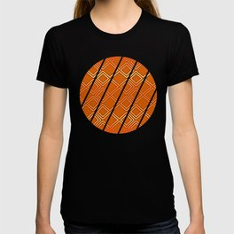 ELECTRIC ORANGE Geometric Diamonds #society6 #shapes T-shirt
