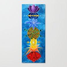 Chakra Art Print Yoga Art Energy Sacred geometry chakra symbols chakra colors Canvas Print