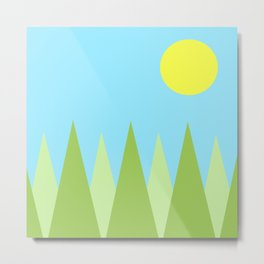 Sunny Day Happy Painting | For kids! Metal Print
