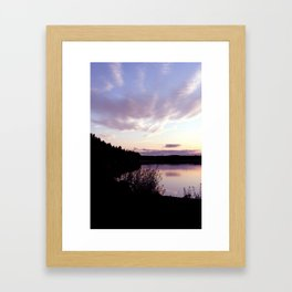 Looking the sunset Framed Art Print