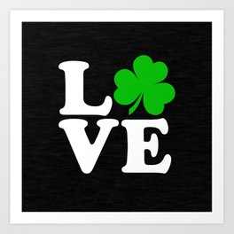 Love with Irish shamrock Art Print