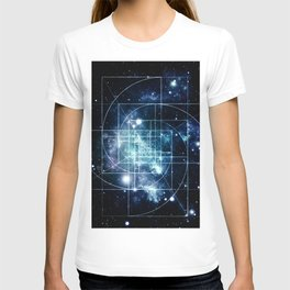Galaxy Sacred Geometry: Golden Mean T-shirt