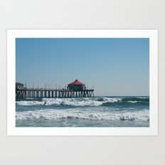 Huntington Beach Life Art Print