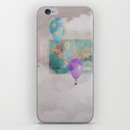 Travelling The World iPhone Skin