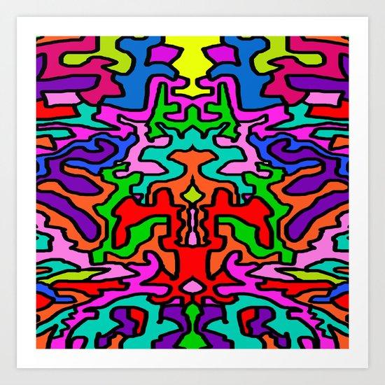 Pop Elisavet | Doodle Mandhala Art Print