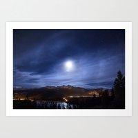 Moon's halo Art Print