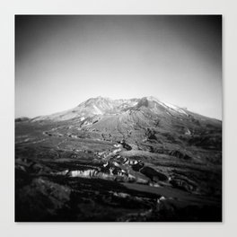 Mount St. Helens in Black and White - Holga Photograph Canvas Print