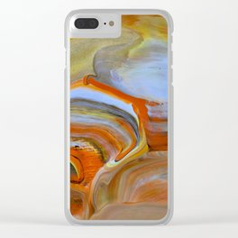 Marble Fantasy Clear iPhone Case