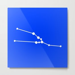 Taurus (White & Blue) Metal Print