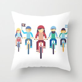 Critical Mass Throw Pillow
