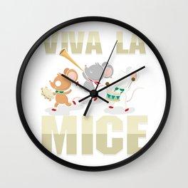 Viva La Mice Mouse Rat Animal Lover Pet Rodent Gift Wall Clock