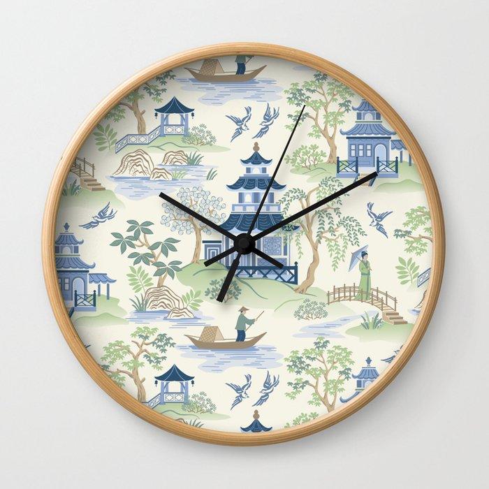 Chinoiserie Wall Clock