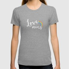 Loves wins Tri-Grey Womens Fitted Tee LARGE