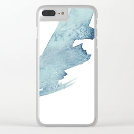 Navy Swipe Abstract Wave Clear iPhone Case