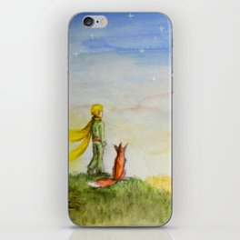Little Prince, Fox and Wheat Fields iPhone Skin