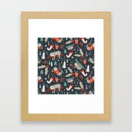Slothy Holidays Framed Art Print