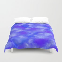 Abstract Clouds - Rich Royal Blue Duvet Cover