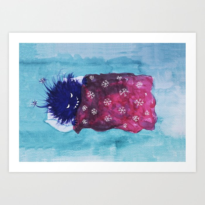 Cute Evil Bug Goes To Sleep Art Print