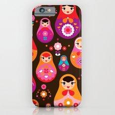 Russian Dolls illustration pattern print Slim Case iPhone 6