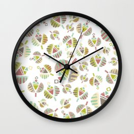 Abstract Retro Flowers Wall Clock