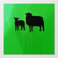sheep Canvas Prints featuring Sheep by Brontosaurus