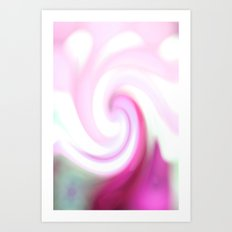 pink and teal spiral. Art Print