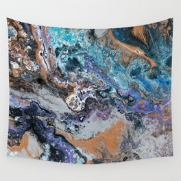 Molten Time (flow art on canvas) Wall Tapestry