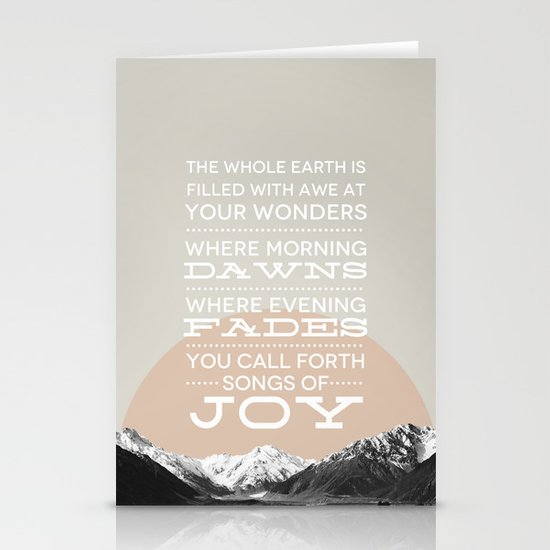 Psalm 65:8 Stationery Cards