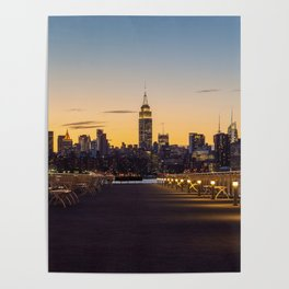 Sunset in New York City (Color) Poster