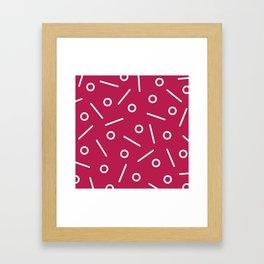 Fun Minimal Cerise Framed Art Print