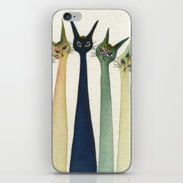 Wollongong Whimsical Cats iPhone Skin