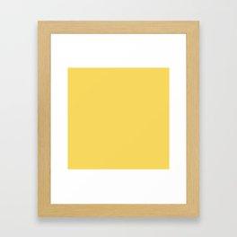 Saffron Yellow Framed Art Print