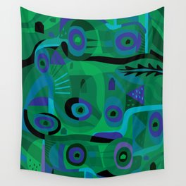 Cabins in the Sea Wall Tapestry