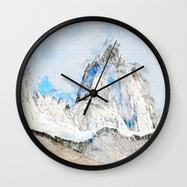 Fitz Roy, Patagonia South America Wall Clock