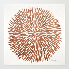 Rose Gold Burst Canvas Print